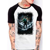 Camiseta Raglan Acampamento Meio Sangue Percy Jackson 1106