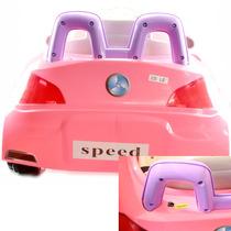 Carro Eletrico Infantil Buzina Sons Luzes Criança Rosa