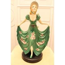Hermosa Dama De Porcelana Japonesa Vintage
