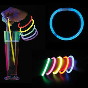 90 Pulseras Neon Varitas Fosforecentes Para Tu Evento