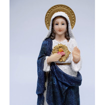 Imagem Sagrado Coração De Maria 20cm Modelo Especial +brinde