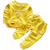 Conjunto Infantil Mickey Disney Com Calça E Camisa Compridas