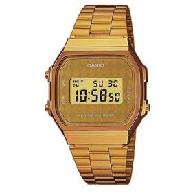 Reloj casio retro a168wg 9 para dama dorado