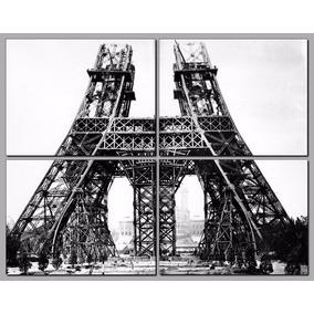 Torre Eiffel Bastidor Y En 4 Partes De 50x40 Cada Una