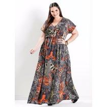 Vestido Longo Plus Size Feminino - Roupa Gordinha Linda
