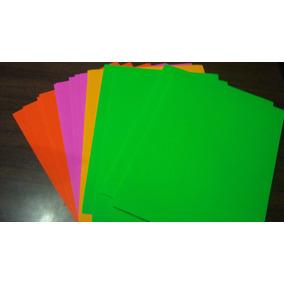 Papel Adhesivo De Color Tamaño Carta 50 Hojas Papeleria