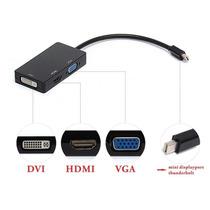 Cable Adaptador 3 In 1 Mini Display Port Thunderbolt To Dvi