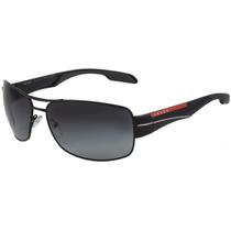 Prada Ps 53ns - Óculos De Sol 7ax 5w1 Preto Brilho/ Preto