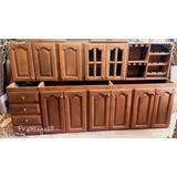 Mueble De Cocina De Algarrobo En Bsas - Medio Metro Lineal