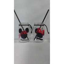 Souvenirs Frasco Minnie (nena) -mickey (nene)