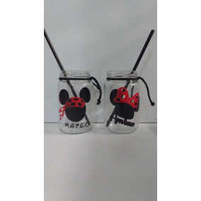 Souvenirs Frasco Minnie (nena) -mickey (nene)