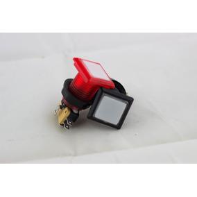 Botón Cuadro Con Led Para Maquinitas Garage Videojuegos