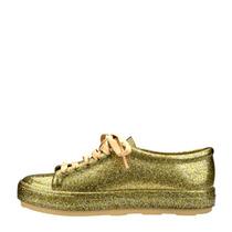 Tênis Melissa Feminino Be Ad Vidro Glitter Ouro Original