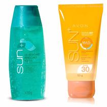Kit Protetor Solar E Gel Refrescante Avon Sun