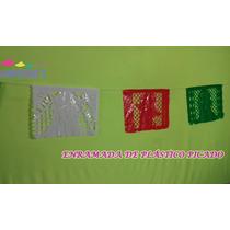 Papel Picado Plástico Fiestas Patrias Tricolor