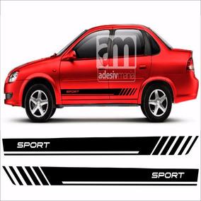 Adesivo Kit Faixas Lateral Para Corsa Classic Cla-12