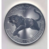 Moneda 1 Onza Plata .999 Canadá 2016 - Puma