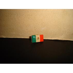 Antiguo Pin Bandera De México Con Escudo - 70