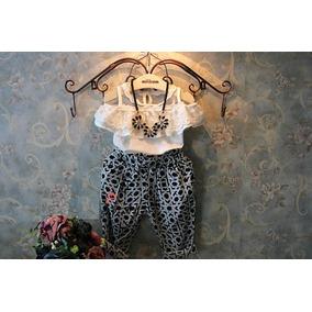 Conjunto Primavera Verano Niñas Capri Blusa Ropa Moderna