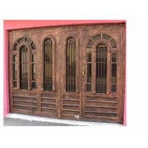 Puerta Arcolumna De Herreria Rustica Fina Precio M2.