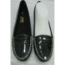 Coas Zapatos Mocasines Lluvia 40 Charol Negro (ana.mar)
