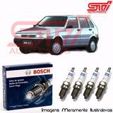 Jogo Vela Bosch Sp04 Uno Mille 1.0 8v Gasolina 56-57cv 93-01