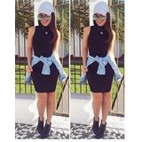 Vestido Feminino Tubinho Gola Alta Roupa Viscolycra P M G