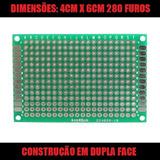 Placa Universal Pcb Perfurada Dupla Face 4cmx6cm Eletrônica