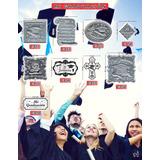 Plaquitas De Repujado Graduación Recuerdos Manualidades Alum