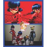 Kit Displays De Chão Miraculous Ladybug 8p+painel (09)2,x1,4