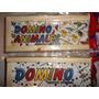 Domino Infantil En Caja De Medera Con Dibujos Pintados