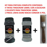 Kit Comp. Pintura 4 Tintas 1 Pincel E 1 Diluente D. Oficial