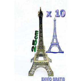 10 Torres Eiffel Paris 25 Cm - Adorno Para Eventos