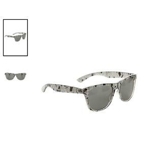 Hot Topic Lentes Nerd Clear And Black Geo Retro Sunglasses