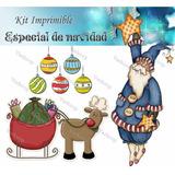 Kit Imprimible Especial De Navidad Tarjetas Cajas Scrap