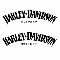 Sticker Motos - Calcomania - Vinil - Logo Harley Vintage