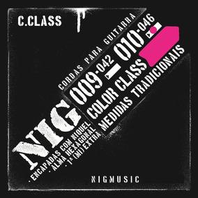 N1645 Cordas Encordoamento 010 046 Guitarra Nig Color Rosa
