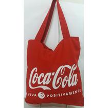 Bolsa Tecido Coca Cola Vermelha Pronta Entrega