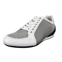 Sneakers Emporio Armani P/hombre Gamuza Blanco 7 Usa