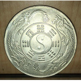Moneda China 4 Cm Diametro Yin Yang Dragones Feng Shui