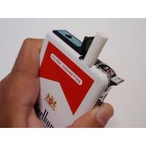 Cigarrera Porta Cigarrillos De Metal Con Encendedor Incluido
