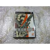 Metal Gear Solid 2 Original Playstation 2 Ps2 2001 Nuevo