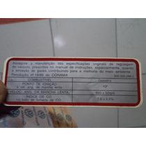 Adesivo Dados Motor Gol 1000 Quadrado 95/96 Orig Vw