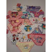Pantaletas Pantie Calzon Niña Princesas 4 6 Y 8 Años