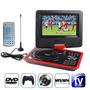 Dvd Portatil Lcd 9,8 Tv Usb Sd Radio Fm Juegos Cargador 12v