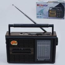 Radio Portatil Retro Com 4 Bandas Am Fm Sw E Tv Livstar Cnn-