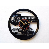 Reloj De Pared Disco Vinilo Acetato Vinil Dodge Challenger