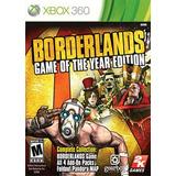 Borderlands Game Of The Year Xbox Nuevo Sellado