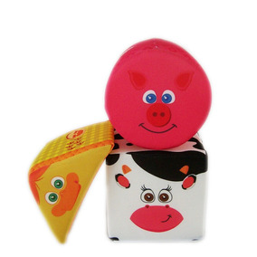 Cubos Apilable Soft Animales Sonido Juguetes Bebes Educando