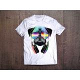 Camiseta Masculina Tomorrowland Cachorro Pug Festa Rave Dj